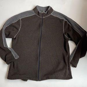 KUHL Men's Brown Fleece Zip Up